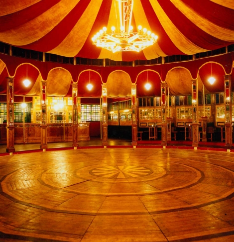 The Spiegeltent at Edinburgh Book Festival, Charlotte Square; my home for most of August 2012
